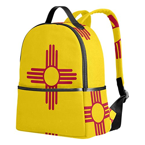 New Mexico State Flag Rucksack Canvas Satchel Casual Daypack ,School College Student Backpack