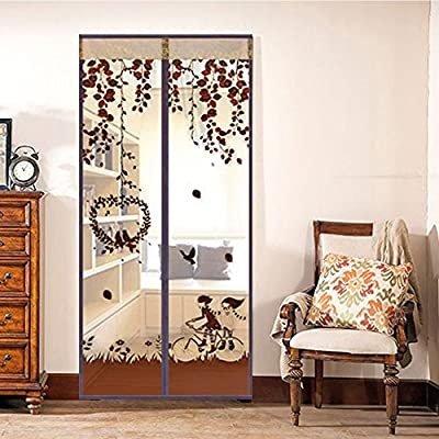 PowerLead Pmaf F001 Magnetic Screen Door Full Frame Velcro Close Automaticlly Mesh Curtain Keeps Bugs & Mosquitoes Out, Lets Cool Breeze In