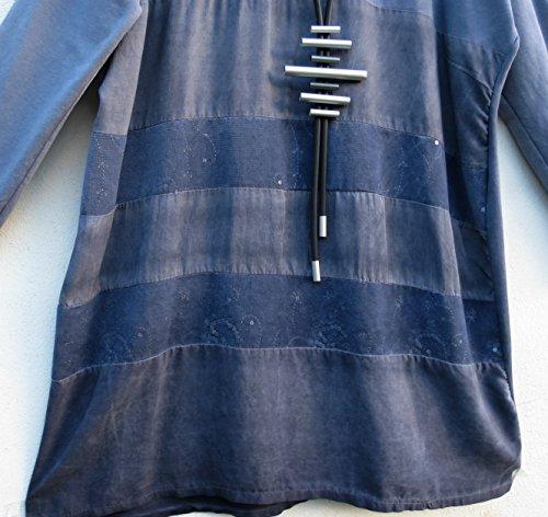 50 Vestido 48 lange Collection Tunika Lagenlook XL Dress Kleid Robe xq4867Cw