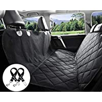 Dog Front Seat Cover - [Upgraded] Pet Auto Seat Cover with Extra Side Flaps, Nonslip Back Waterproof & Scratch Proof Best Car Seat Covers for Cars, SUV, Truck Front Seat Full Protector …