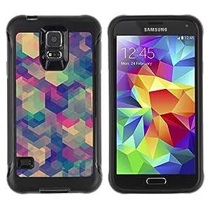 Suave TPU GEL Carcasa Funda Silicona Blando Estuche Caso de protección (para) Samsung Galaxy S5 V / CECELL Phone case / / Teal Abstract Pattern Geometric /
