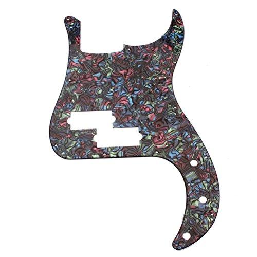 WINOMO 3-Ply Bass PB Guitar Loaded Prewired Pickguard Multicolor by WINOMO
