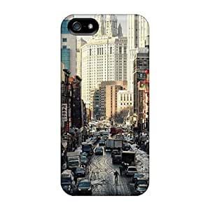 New Customized Design Winter Street In Chinatown New York City For Iphone 5/5s Cases Comfortable For Lovers And Friends For Christmas Gifts
