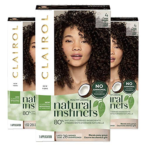 (Clairol Natural Instincts Non-Permanent Hair Color Kit - 4 Dark Brown - 3)