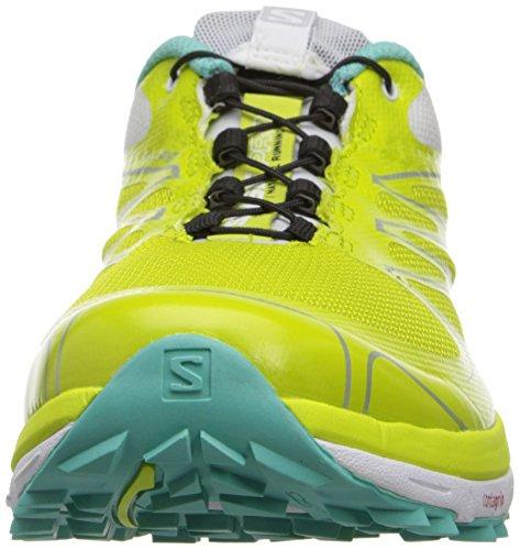 Running Women's Pro Green Softy Blue Shoes Salomon Trail Sense White Gecko q1IBEPw