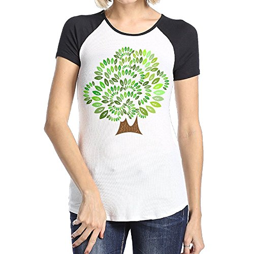 Askdji2 Women's Two-Toned Tee-Fashion Mysterious Tree - Free Tree Shipping Hut