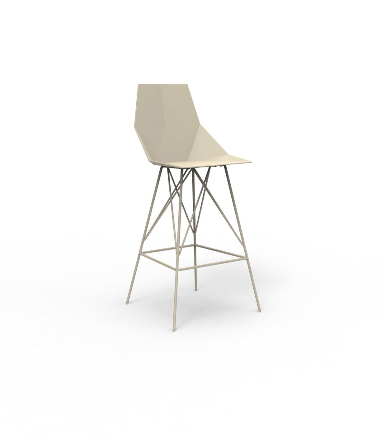 Vondom FAZ Barhocker - ecru - Höhe 111 cm - Ramón Esteve - Design - Barhocker - Gartenstuhl
