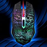 Corgy Gaming Mouse with LED Optical, 3 DPI Adjustment Levels, 6 Buttons for Laptop, PC, Mac (Black Gaming Mouse)