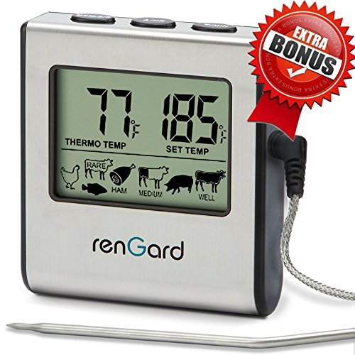 RenGard Cooking Thermometer Stainless Temperature