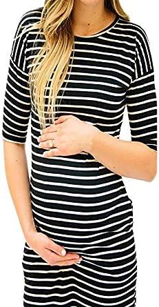 Vestido YiYLunneo Falda Maternidad Mujeres Camiseta de ...