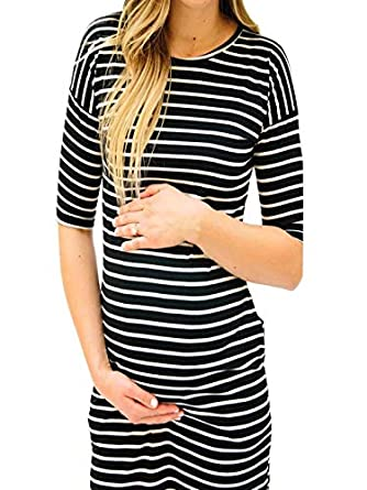 Vestido YiYLunneo Falda Maternidad Mujeres Camiseta de Lactancia ...