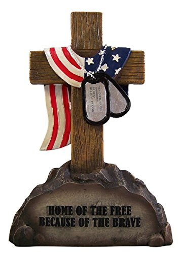 Military Cross with Dog Tags and Flag 8 -