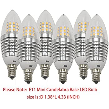 Ashialight Dimmable Led Mini Candelabra Bulb Soft White