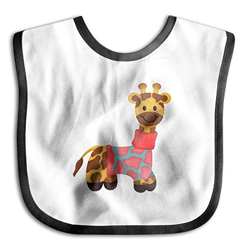 Comfortable Soft Baby Girls' Boys' Cute-Giraffe Drooler Bib - Bib Easily Wipes Clean! (Cute Construction Worker Costumes)