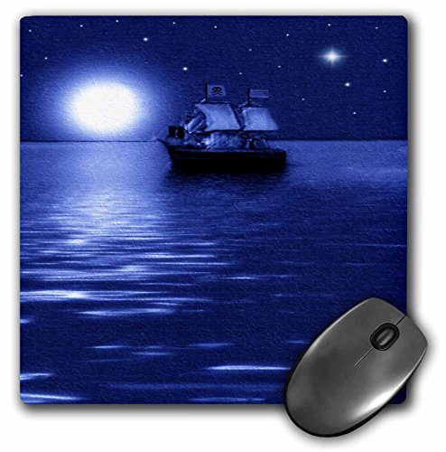 3dRose LLC 8 x 8 x 0.25 Inches Pirate Ship Smudge Art Mouse Pad (mp_6670_1) (De Art 6670)