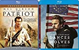 Dances With Wolves (25th Anniversary Edition) + The Patriot Extended Blu Ray 2 Pack Epic Movie Action Set