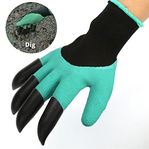 Garden Gloves with 4 ABS Plastic Claws for garden Digging Planting