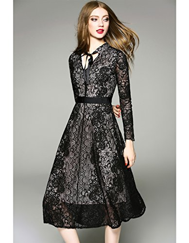 Dress Long s Lace Borje Design Black Fashion Women Dress For New Evening Party xwwOq0YI