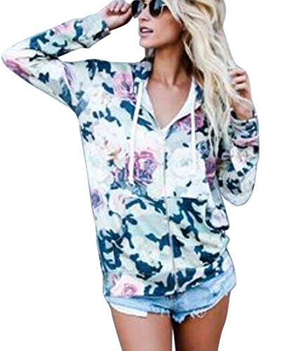 Full Zip Print Sweatshirt - 7