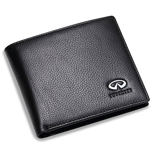 Infiniti Bifold Wallet With 3 Credit Card Slots And Id Window   Genuine Leather