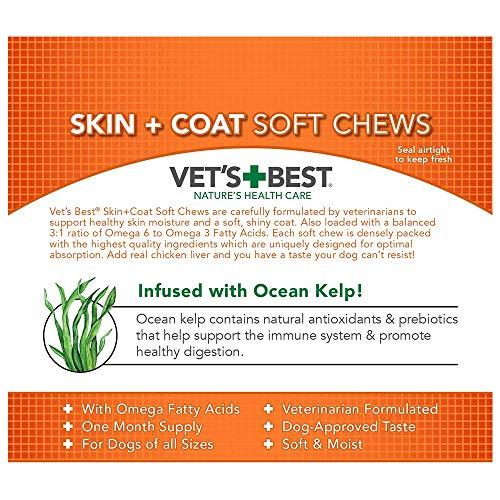 Image of Vet's Best Skin & Coat Soft Chews Dog Supplements, 30 Day Supply