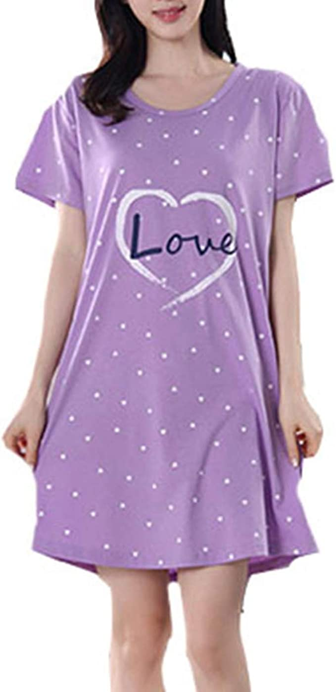 Pijama Mujer Elegante Manga Corta Talla Grande Pijamas algodón ...