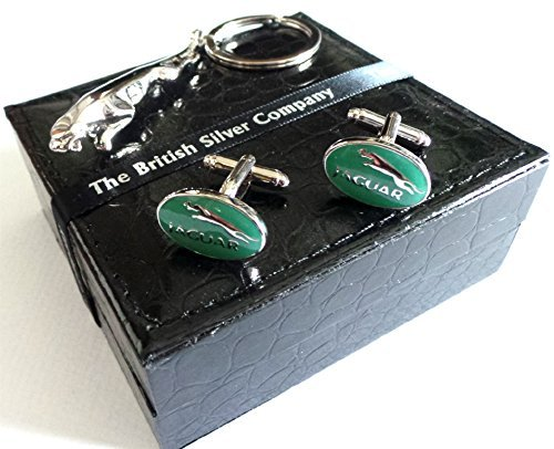 Silver Cat Plated Cufflinks - The British Silver Company Jaguar Silver Plated Car Leaping Cat Keyring And Jaguar Cufflinks By The British Company