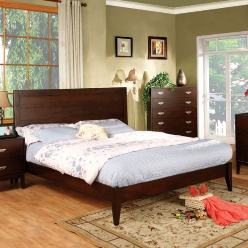Crystal Lake Brown Cherry Finish Full Size Bed Frame Set