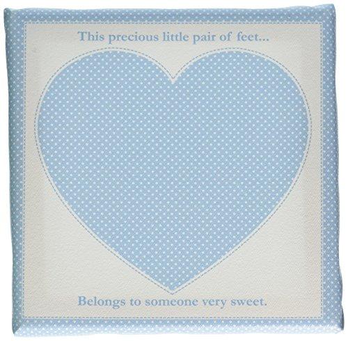 Child to Cherish Footprint Canvas Frames, Blue