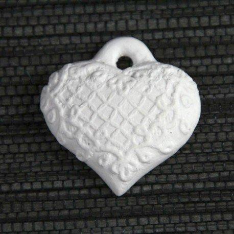 OFFERTA oggettistica profumata in gesso (LD1056) CUORE DAMASCATO pz 24 CM4X4 Vaquerprofumatori