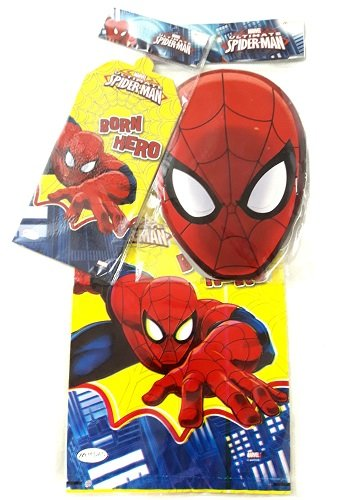 KM World SPIDERMAN Theme Birthday Party Invitation Cards10 Loot Bags10 Face Mask10 Decoration Kids Boys Girls Amazonin Toys Games