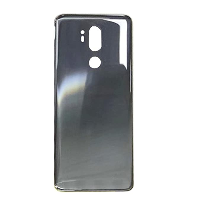 size 40 49b2b bf1e7 General Rear Battery Door Housing Back Cover Replacement for LG G7 ThinQ  G7+ G710 G710ULM G710AWM G710EM G710PM G710VMP Silver Gray