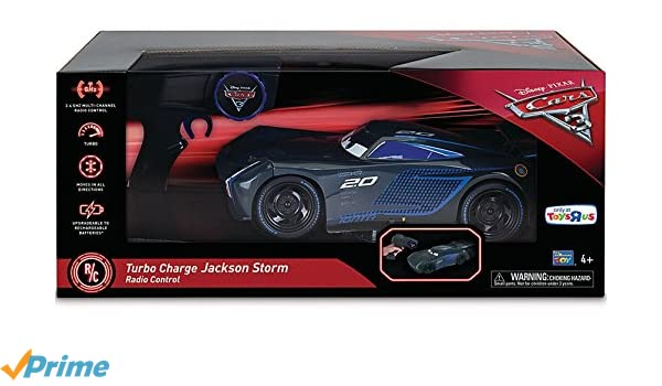 Amazon.com: Disney Pixar Cars 3 Radio Control Car - Turbo Charge Jackson Storm 2.4 GHz: Toys & Games