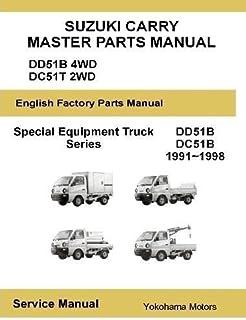 suzuki carry every english factory service manual james danko rh amazon com Suzuki F6A Engine 600Cc Suzuki F6A Engine