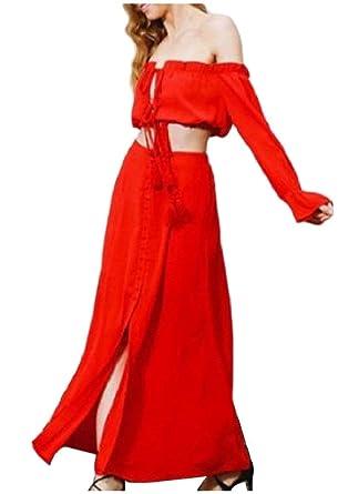 Zier Sexybaby Mujeres Palabra clásica Cuello Beachwear Crop Top ...