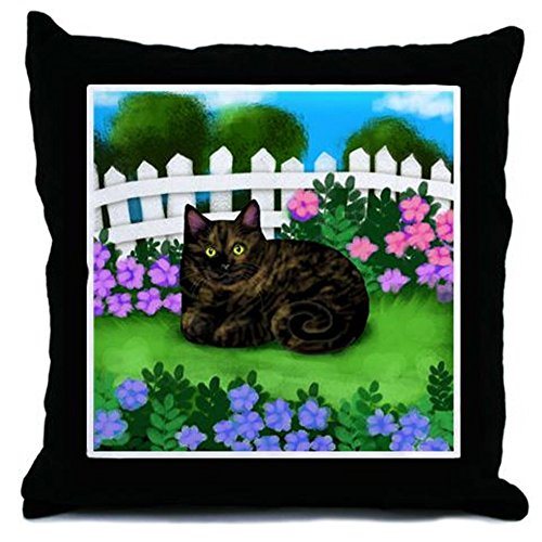 CafePress - Tortoiseshell CAT Garden - Decor Throw Pillow (18