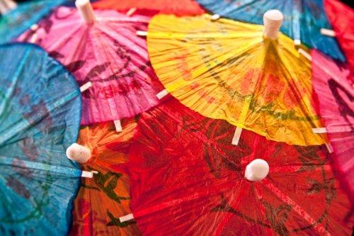 Cocktail Umbrellas IV, Fine Art Photograph By: C. Thomas McN