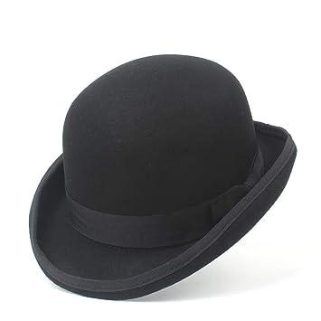 JDDRCASE Sombreros de Moda Gorras, Hombres 100% Lana Bailey Ofhollywood Fedora Hat para Caballero Crushable Hantom Dad Bowler Hat de Lujo Billycock ...