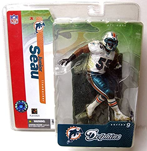 McFarlane NFLSeries 9 Junior Seau in Miami Dolphins White Jersey Chase Variant Figure (Junior Seau)