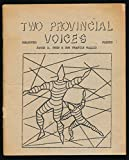 img - for Two Provincial Voices: Selected Poetry book / textbook / text book