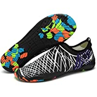 Lxso Men Women Water Shoes Multifunctional Quick-Dry Aqua Shoes Lightweight Swim Shoes with Drainage Hole