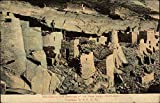 Pre-Historic Cliff Dwellings of the Mesa Verde Colorado Original Vintage Postcard