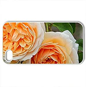 beauty of rose - Case Cover for iPhone 4 and 4s (Flowers Series, Watercolor style, White)