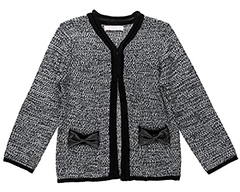 Premium Pinc Girls Marled Cardigan with Bow Pockets - Girls 4T (Pinc Premium Toddler)