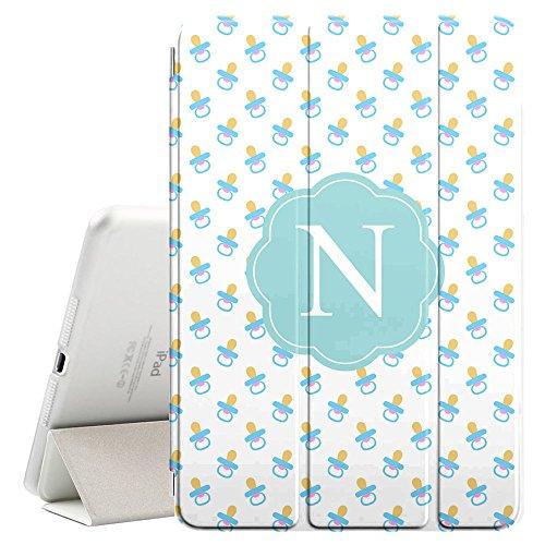 [N–Inicial] [Apple iPad Pro 32,8cm pulgadas] [Nombre Monogram Folio caso] con Auto Sleep/Wake Función [Patrón de...