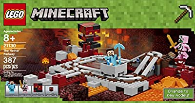 LEGO Minecraft The Nether Railway 21130 Building Kit (387 Pieces) from LEGO