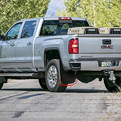 MarretooAuto Splash Guards 2014 2015 2016 GMC Sierra Mud Flaps Fender Flares Front and Rear 4 Pack Mudflaps: Automotive