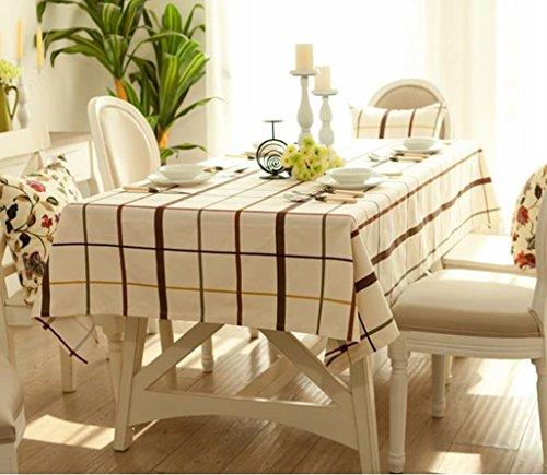 -3 110170CM Nappe de cuisine Nappe Rectangulaire Dîner Pique-nique Table Tissu Hôtel Western Food Meeting Nappe Tissu Tissu en coton Tissu en coton (Couleur    -3, taille   110  170CM)