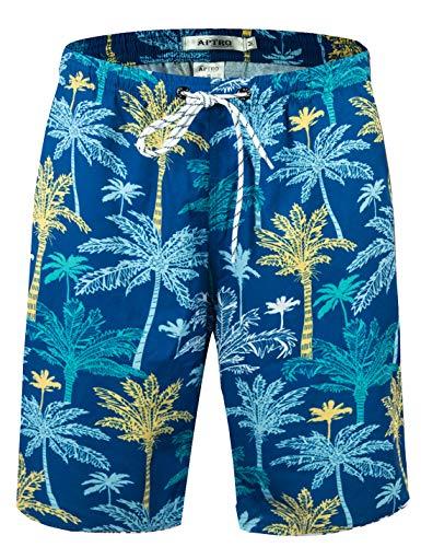 APTRO Men's Swim Trunks with Pockets Quick Dry 4 Way Stretch Beach Board Shorts HWP033 L