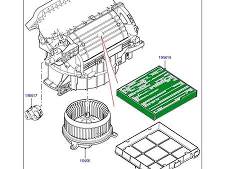 Amazon Com Land Rover Ac Filter Cabin Filter Pollen Filter Range